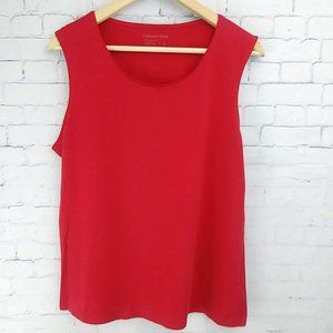 Coldwater Creek Red Cotton Sleeveless Top Large:14